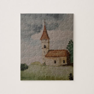 チャーミングな英国の中世教会水彩画 ジグソーパズル