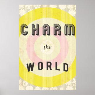 チャームのプリント ポスター