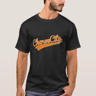 チャーム都市(ボルティモア)野球の原稿-オレンジ Tシャツ