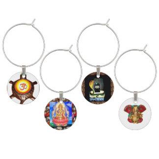 チャームLaxmi OMmantra Shiva Linga Ganapat Ganesha ワインチャーム