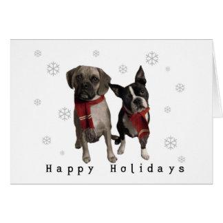チャーリーおよびマーフィーからの幸せな休日 カード