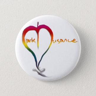 チャーリーの迷惑の虹ボタン 5.7CM 丸型バッジ