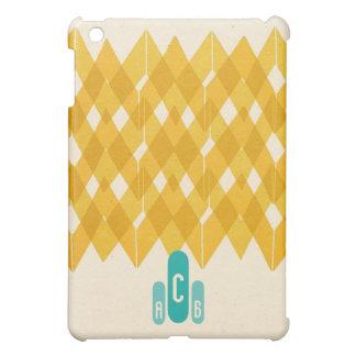 チャーリーブラウンシェブロンのモノグラム iPad MINI カバー