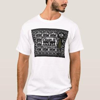 チャーリー及びアマンダのプリントのTシャツ Tシャツ