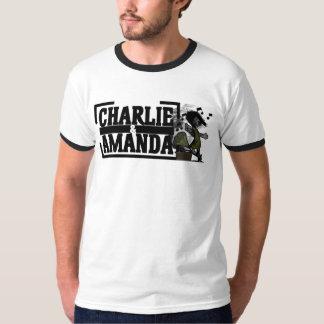 チャーリー及びアマンダの蓄音機の信号器 Tシャツ