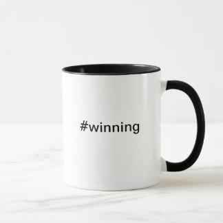 チャーリー・シーンのTwitterのHashtagの#winningマグ マグカップ