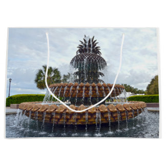 チャールストンのパイナップル噴水、サウスカロライナ ラージペーパーバッグ
