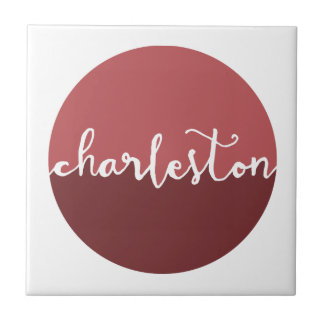 チャールストンのSC |の錆のグラデーションな円 タイル