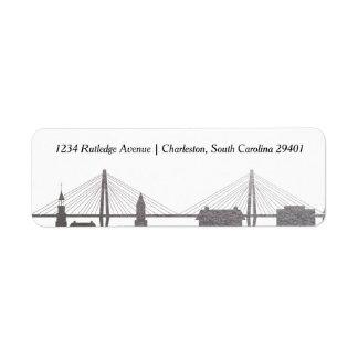 チャールストンサウスカロライナの模造のな銀製のラベル 返信用宛名ラベル