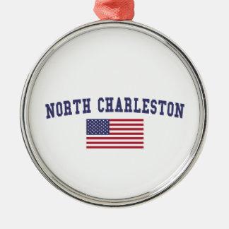 チャールストン北の米国の旗 メタルオーナメント