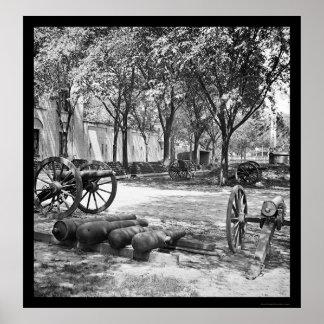 チャールストン1865年のBlakelyの銃そして弾薬 ポスター
