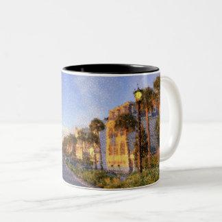 チャールストン、サウスカロライナのコーヒー・マグ ツートーンマグカップ