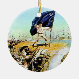 チャールストン、サウスカロライナ1776年6月 セラミックオーナメント