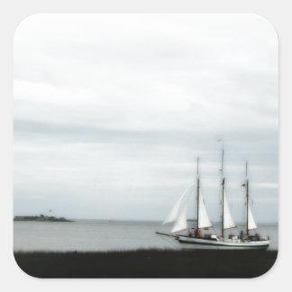チャールストンLowcountryのスクーナー船! スクエアシール
