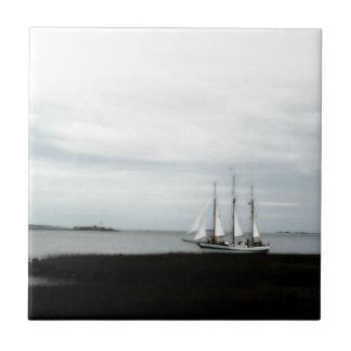 チャールストンLowcountryのスクーナー船! タイル