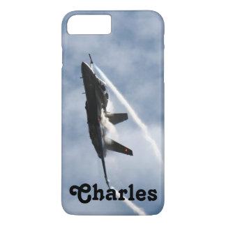チャールズのためのF/A-18戦闘機の飛行機のエア・ショー iPhone 8 PLUS/7 PLUSケース