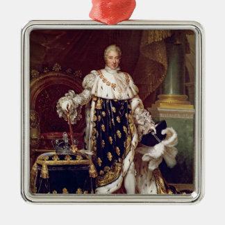 チャールズのポートレート即位ローブのX、1827年 シルバーカラー正方形オーナメント
