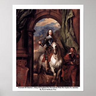 チャールズのポートレートIのイギリス国王 ポスター