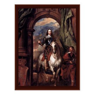 チャールズのポートレートIのイギリス国王 ポストカード