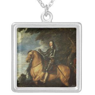 チャールズの乗馬のポートレートI c.1637-38 シルバープレートネックレス