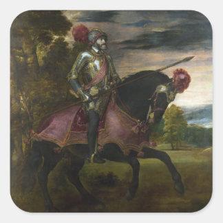 チャールズの乗馬のポートレートTitian著V スクエアシール