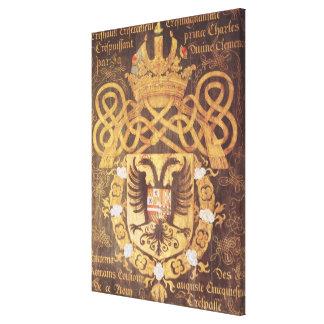 チャールズの紋章付き外衣第23章のV キャンバスプリント
