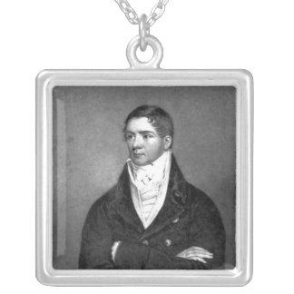 チャールズターナー著刻まれるトマスBelcher 1814年 シルバープレートネックレス