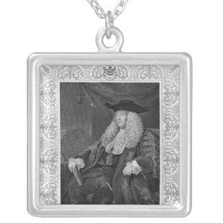 チャールズプラットの第1伯爵キャムデンのポートレート シルバープレートネックレス