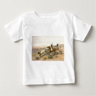 チャールズマリオンラッセル著Buccaroos ベビーTシャツ