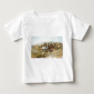 チャールズマリオンラッセル著Custerの戦い ベビーTシャツ