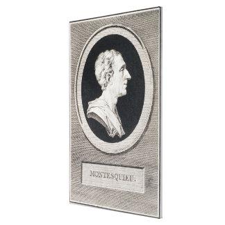 、チャールズルイde Secondat de Montesquieu男爵 キャンバスプリント