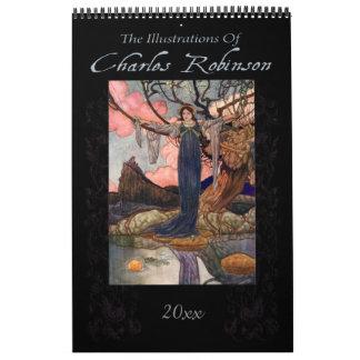 チャールズロビンソン著おとぎ話のイラストレーション カレンダー
