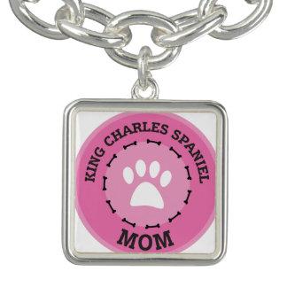 チャールズ円王スパニエル犬のバッジ ブレス