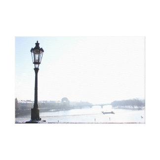 チャールズ橋(プラハ)の街灯柱 キャンバスプリント