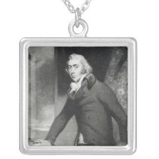 チャールズ灰色、伯爵の灰色のポートレート シルバープレートネックレス