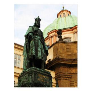 チャールズ王の彫像、プラハ ポストカード
