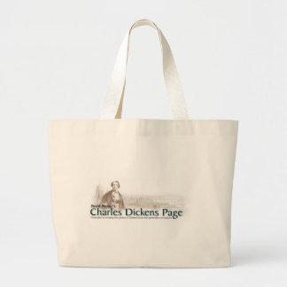 チャールズ・ディケンズのページのバッグ ラージトートバッグ