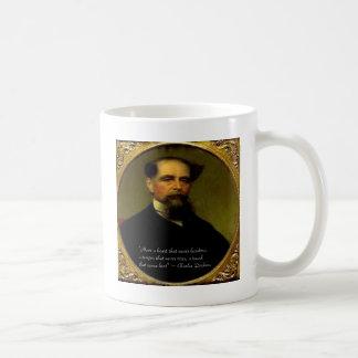 チャールズ・ディケンズ及び心からの引用文 コーヒーマグカップ