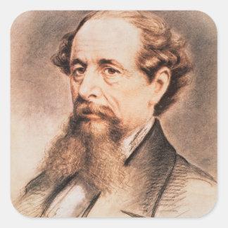 チャールズ・ディケンズ1869年のポートレート スクエアシール