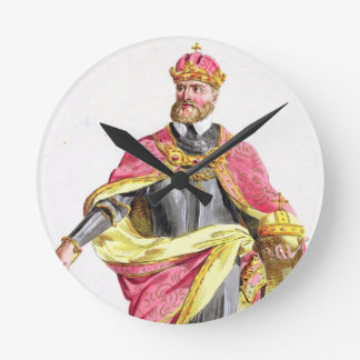 チャールズ「Receuil des EstampesからのV (1500-58年)、に関して ラウンド壁時計