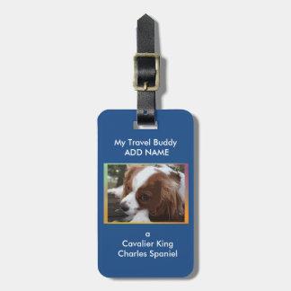チャールズCavalier Spaniel Luggage王のラベル ラゲッジタグ
