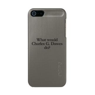 チャールズg dawesする何が メタリックiPhone SE/5/5sケース