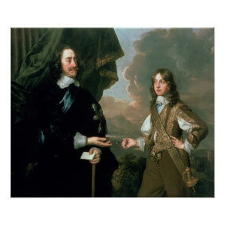 チャールズIおよびジェームスのヨーク、c.1647の公爵 ポスター