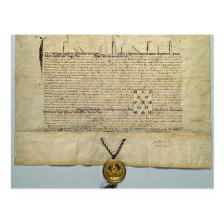 チャールズIV神聖ローマ皇帝のBull ポストカード