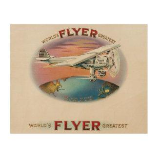 チャールズLindbergh世界で最も素晴らしいフライヤのヴィンテージ ウッドウォールアート