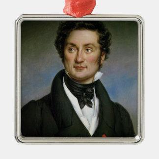 チャールズNodier 1824年のポートレート メタルオーナメント