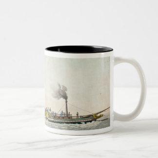チャールズPhilippeの最初の蒸気船 ツートーンマグカップ