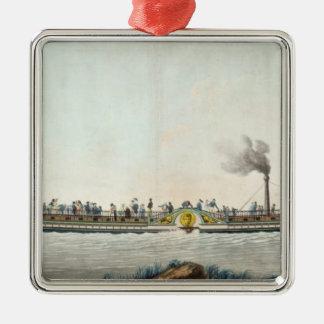 チャールズPhilippeの最初の蒸気船 メタルオーナメント
