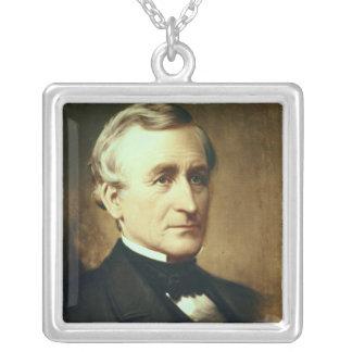 チャールズWilkes 1870年のポートレート シルバープレートネックレス