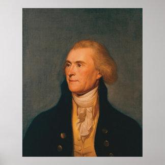 チャールズWillson Peale著トーマス・ジェファーソンのポートレート ポスター